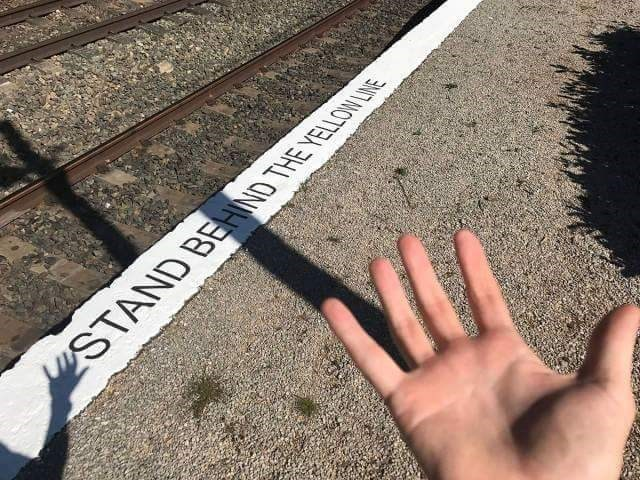 Finger - STAND BEHIND THE YELLOW LINE