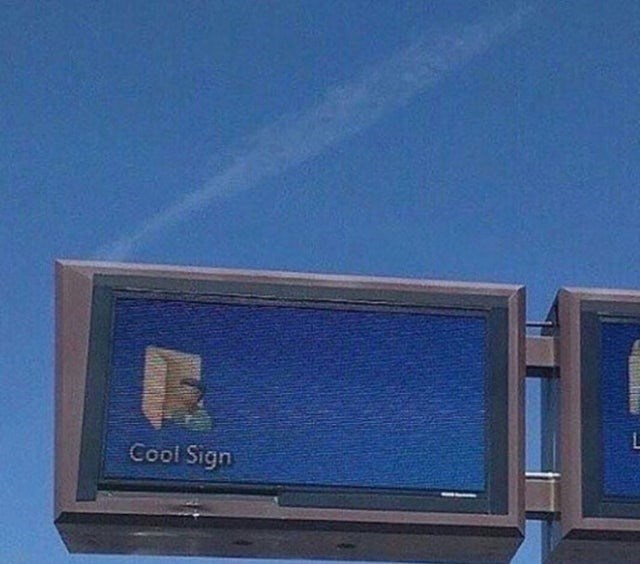Blue - Cool Sign