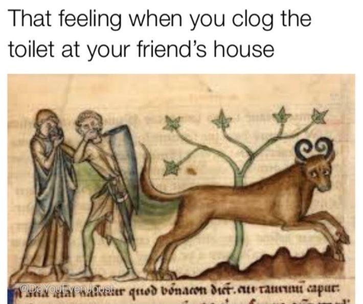 Text - That feeling when you clog the toilet at your friend's house ODOYoUEvenuouater qnod vonacon dier.aue raunu capur: