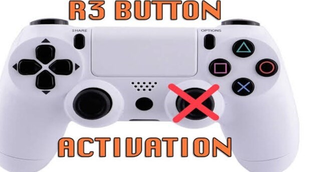 Home game console accessory - R3 BUTTON SHARE OPTIONS ACTIVATION