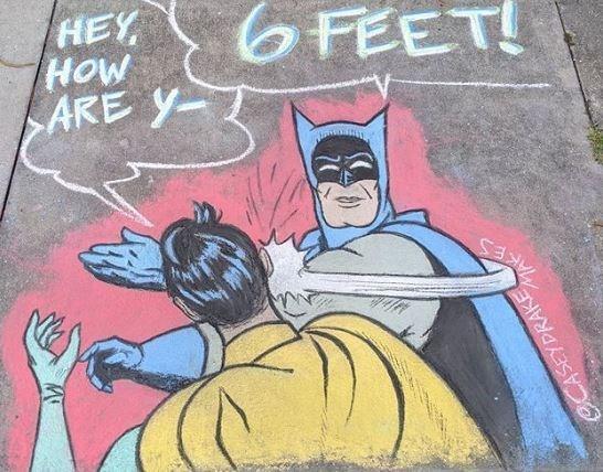 Batman - HEY HOW ARE Y- 6 FEET! CCASEYDRAKE