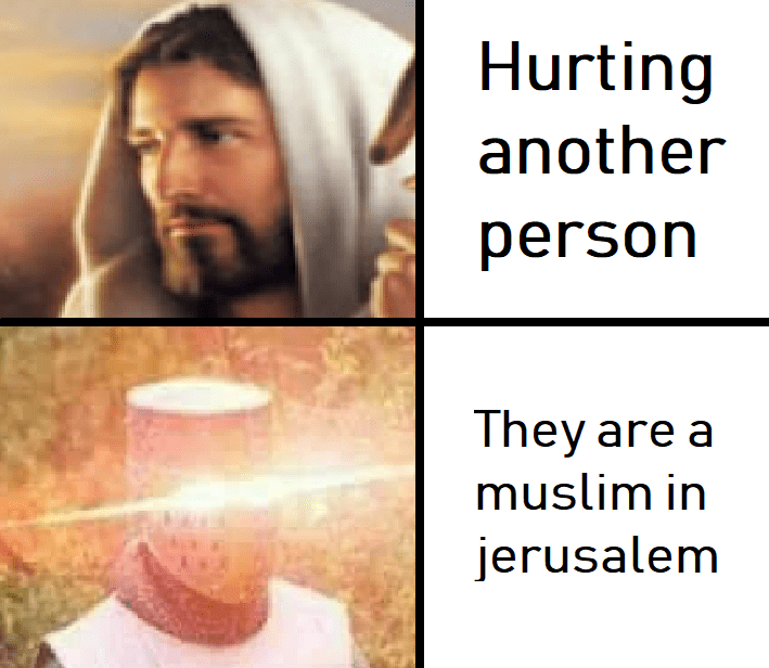 Text - Hurting another person They are a muslim in jerusalem