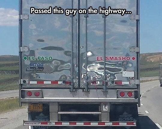 Transport - Passed this guy on the highway. OEL PASO EL SMASHO0 6024 GreatDane 7351 MOOSLAAN BOSS