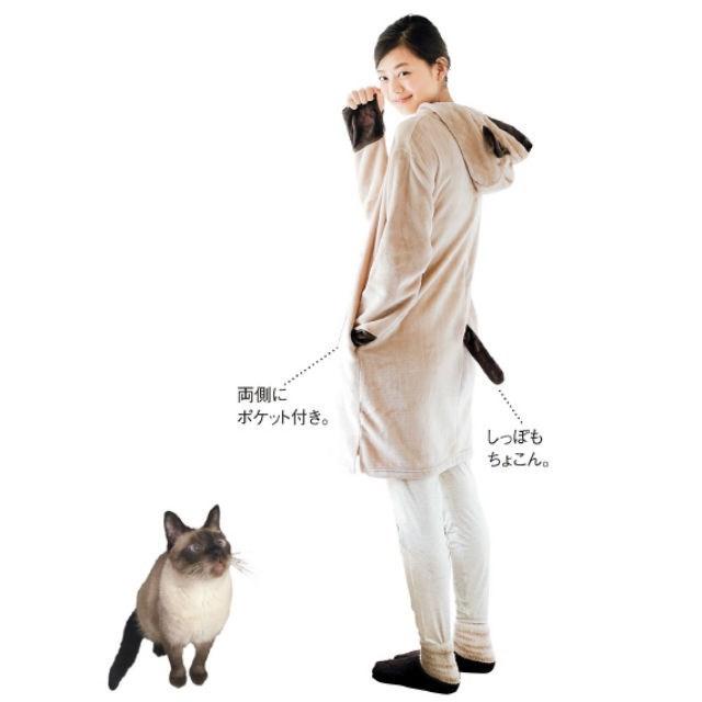 Siamese - 両側に ポケット付き。 しっぽも ちょこん。