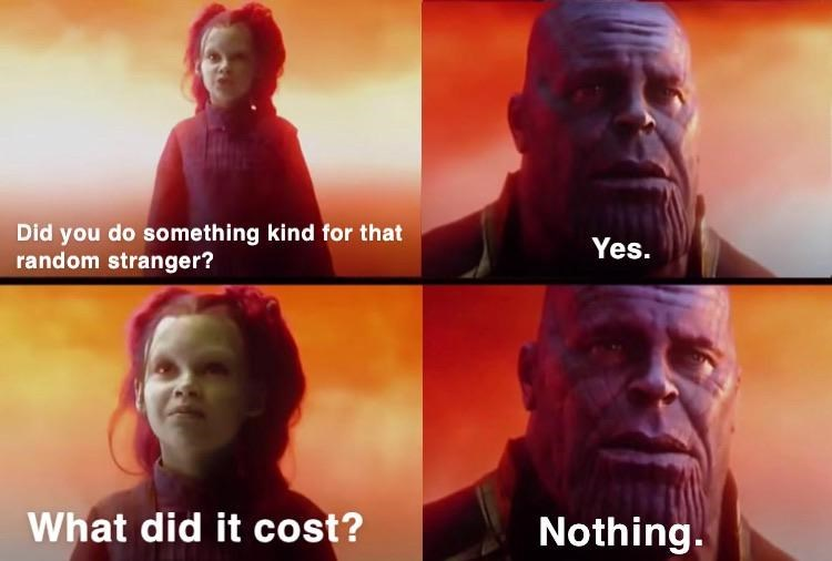 Movie - Did you do something kind for that random stranger? Yes. What did it cost? Nothing.