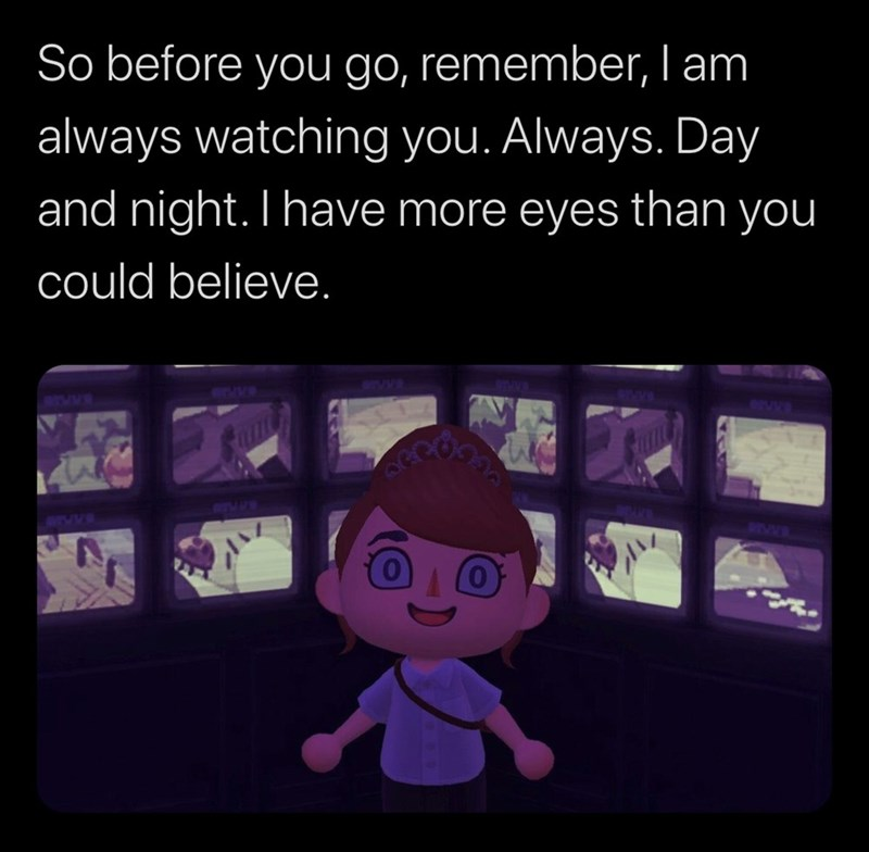 Cartoon - Text - So before you go, remember, I am always watching you. Always. Day and night. Ihave more eyes than you could believe. MOVER BOUVE TVV. DEVWE and MEVVS STVB