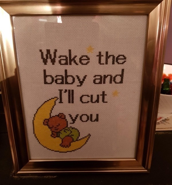 Text - Wake the baby and I'l cut you