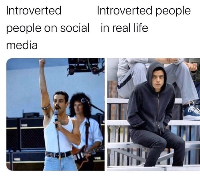 Product - Introverted Introverted people people on social in real life media