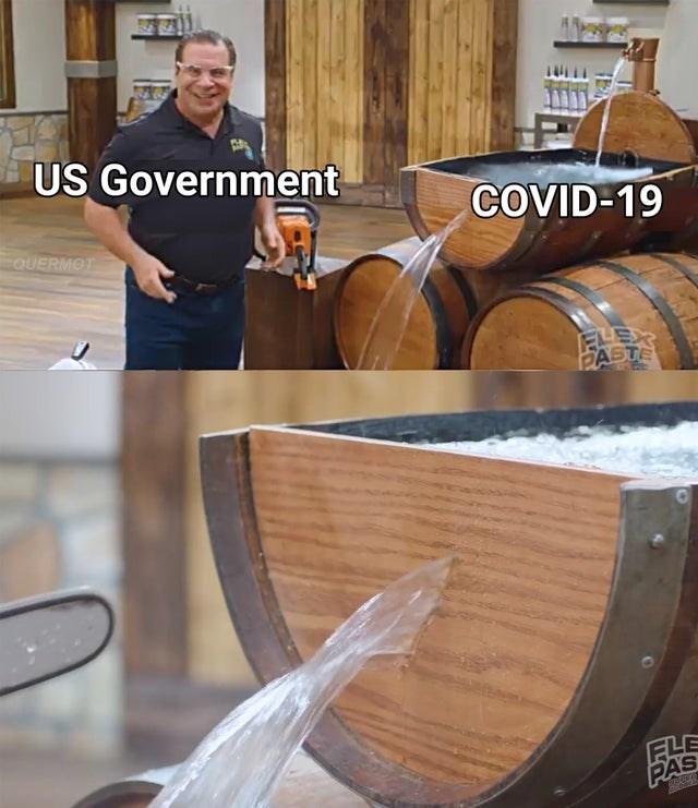 Barrel - US Government COVID-19 QUERMOT PASTE FLE PAS
