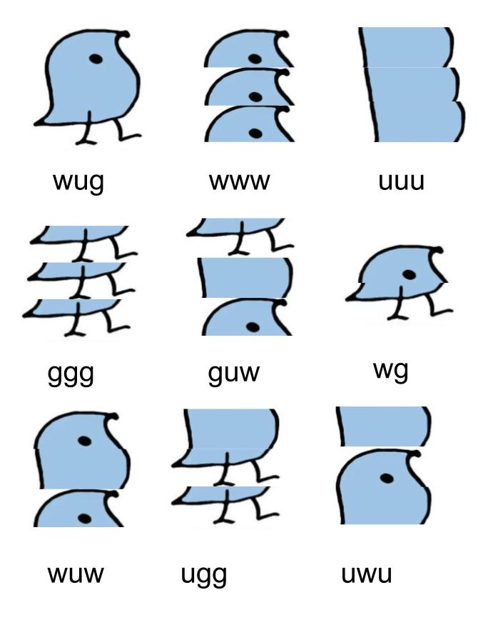 Blue - wug www nnn ggg guw wg wuw ugg uwu