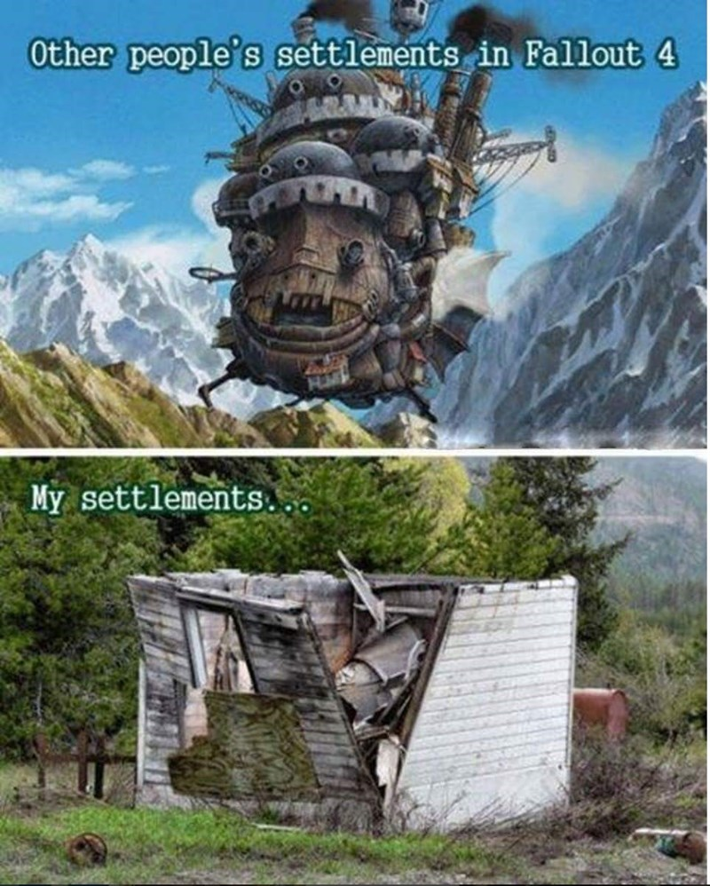 Natural landscape - Other people's settlements in Fallout 4 My settlements.