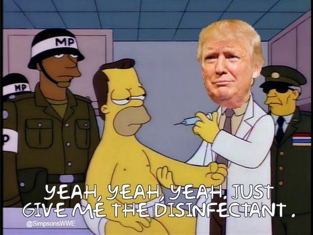 Cartoon - MP MP YEAH, YEAH,YEAH. JUST GIVE ME THE DISINFECTANT. @SimpsonsWWE