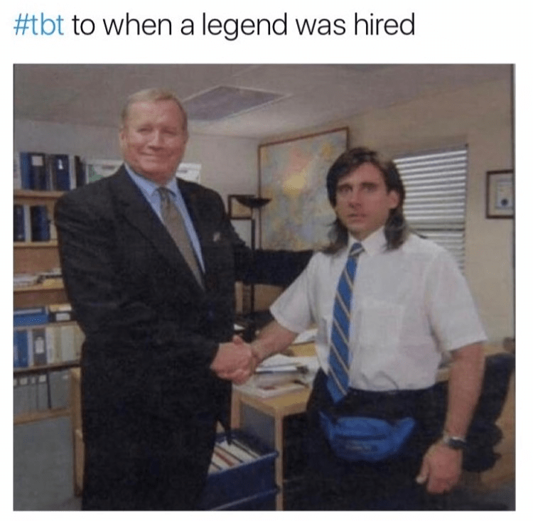 Job - #tbt to when a legend was hired