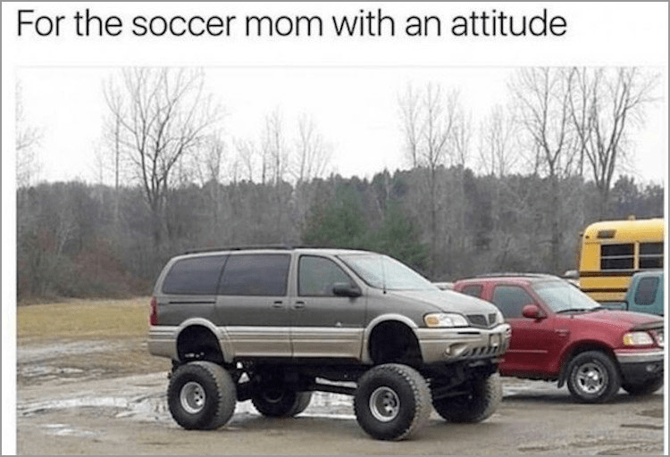 Land vehicle - For the soccer mom with an attitude