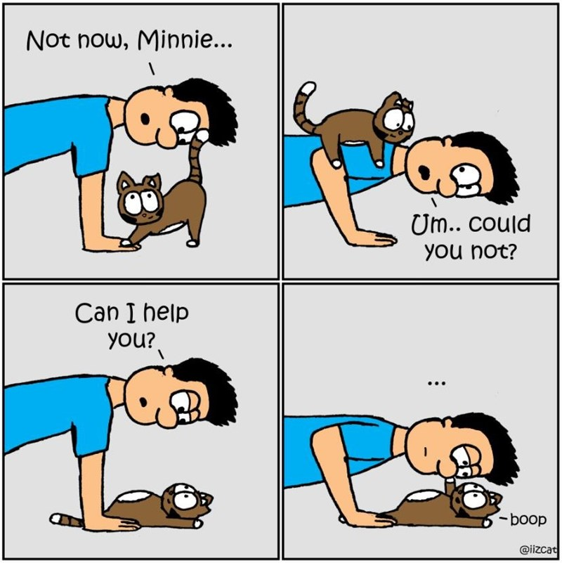 Cartoon - Not now, Minnie... Um.. could you not? छरे Can I help you? -boop @iizcat