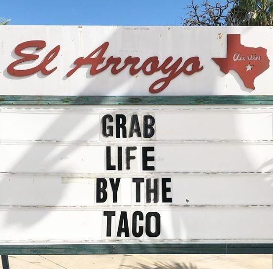 Font - El Arroys Auslin GRAB LIFE BY THE TACO