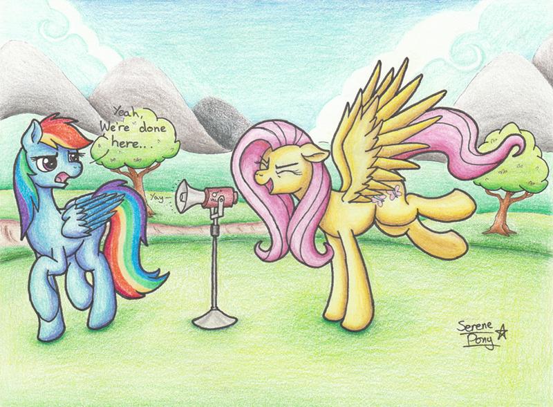 serene pony fluttershy rainbow dash - 9476366592