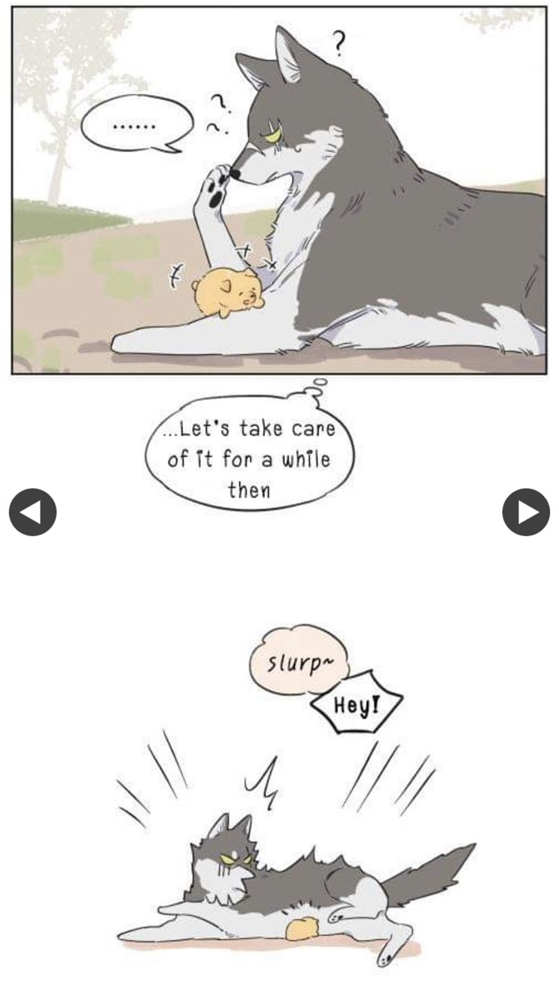 Cartoon - .Let's take care of it for a while then slurp Нey!