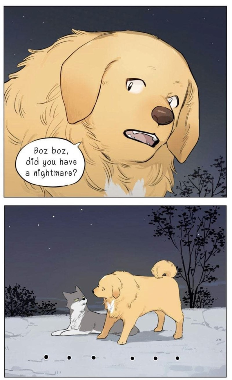 Cartoon - Boz boz, did you have a nightmare?
