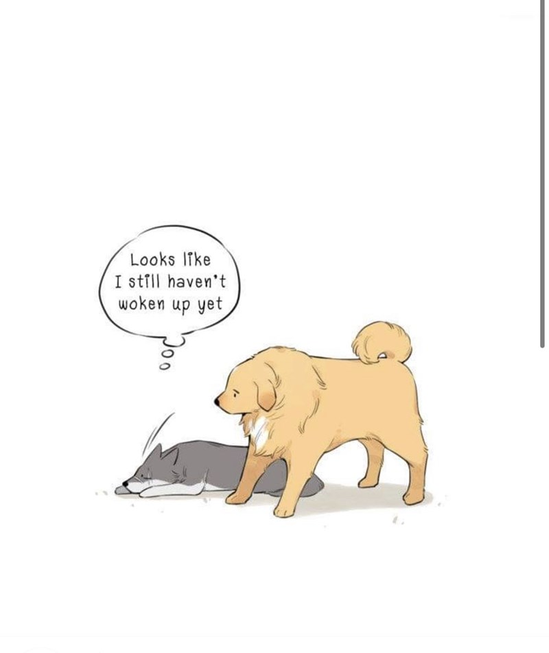 Cartoon - Looks Ifke I still haven't woken up yet