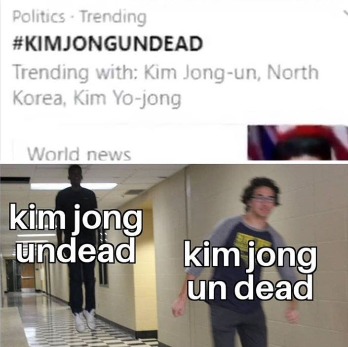Text - Politics - Trending #KIMJONGUNDEAD Trending with: Kim Jong-un, North Korea, Kim Yo-jong World news kim jong undead kim jong un dead