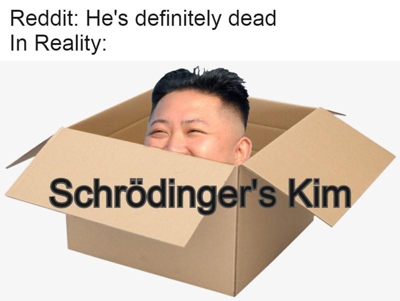 Box - Reddit: He's definitely dead In Reality: Schrödinger's Kim