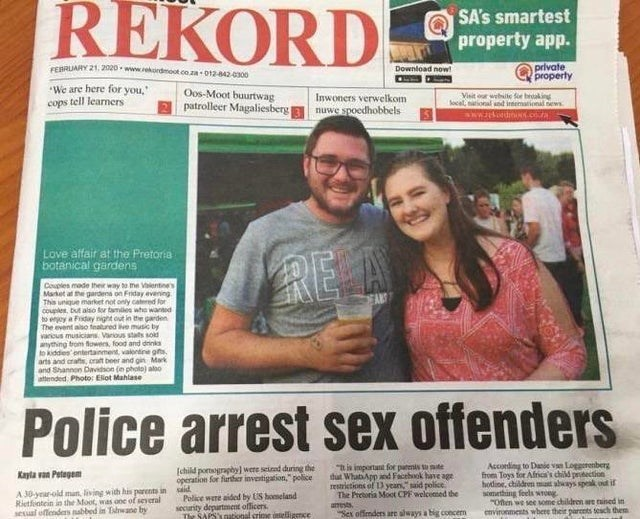 Newspaper - REKORD SA's smartest property app. private property FEBRUARY 21, D-www.ekordmoot.co.za-01242300 Download now! We are here for you, cops tell learners Oos-Moot buurtwag patrolleer Magaliesberg Inwoners verwelkom nuwe spoedhobbels Visit or weile fie braking local, ional nd intemational ews sww dn.coa Love affair at the Pretoria botanical gardens RE A Couples made their way to he Vlentines Market at he gardena o This unique market not only catered for couples, but also tor tames who wan