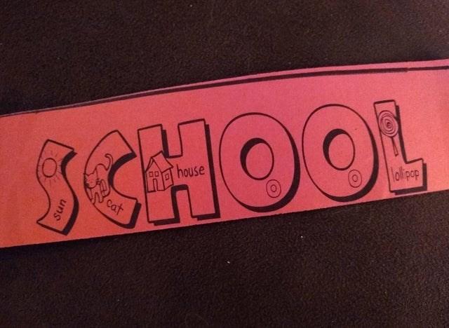 Pink - lolipop SCHOOL cat uns