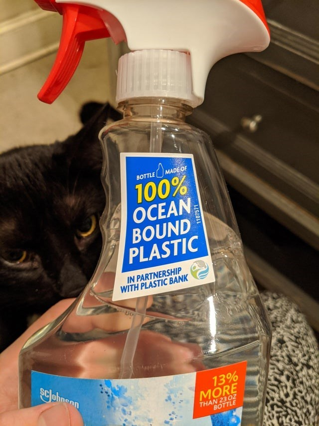 Product - BOTTLE MADE OF 100% OCEAN BOUND PLASTIC IN PARTNERSHIP WITH PLASTIC BANK sclohnen 13% MORE THAN 23 OZ BOTTLE 1107571