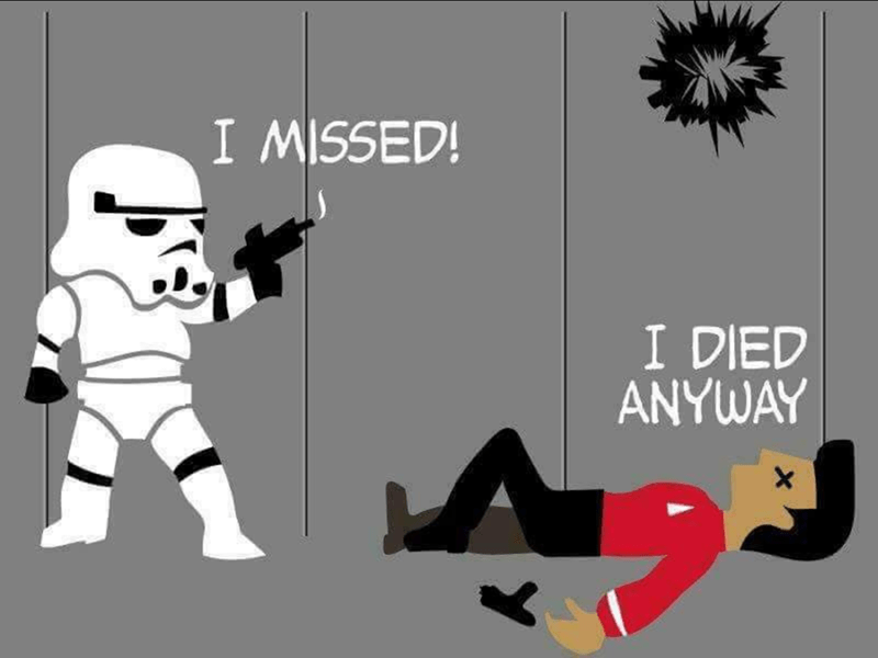 Cartoon - I MISSED! I DIED ANYWAY