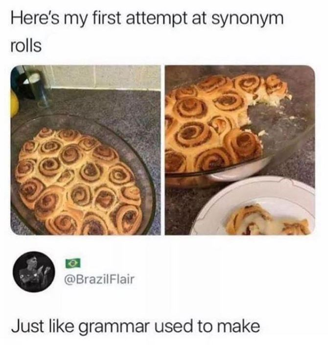 Food - Here's my first attempt at synonym rolls @BrazilFlair Just like grammar used to make
