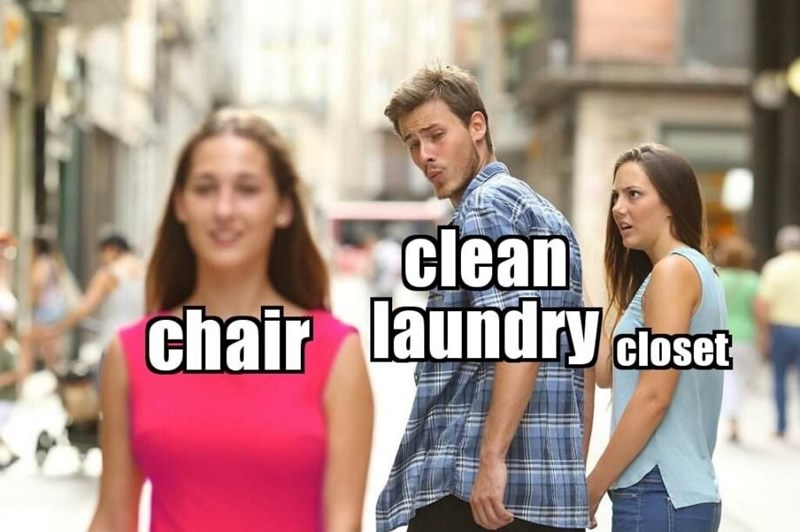 People - clean chair laundry closet