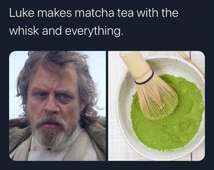 Organism - Luke makes matcha tea with the whisk and everything.