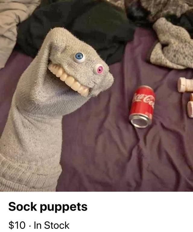 Dinosaur - Coa Sock puppets $10 In Stock
