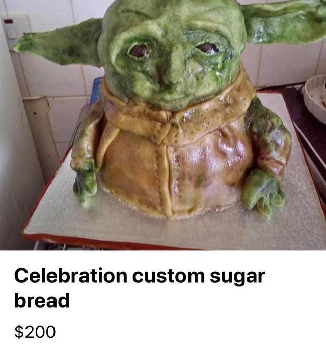 Yoda - Celebration custom sugar bread $200
