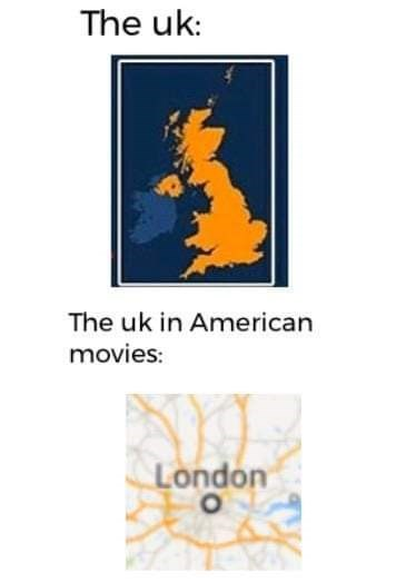 Text - The uk: The uk in American movies: London