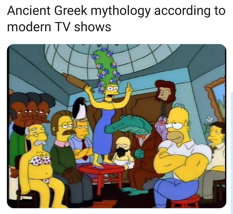 Cartoon - Ancient Greek mythology according to modern TV shows