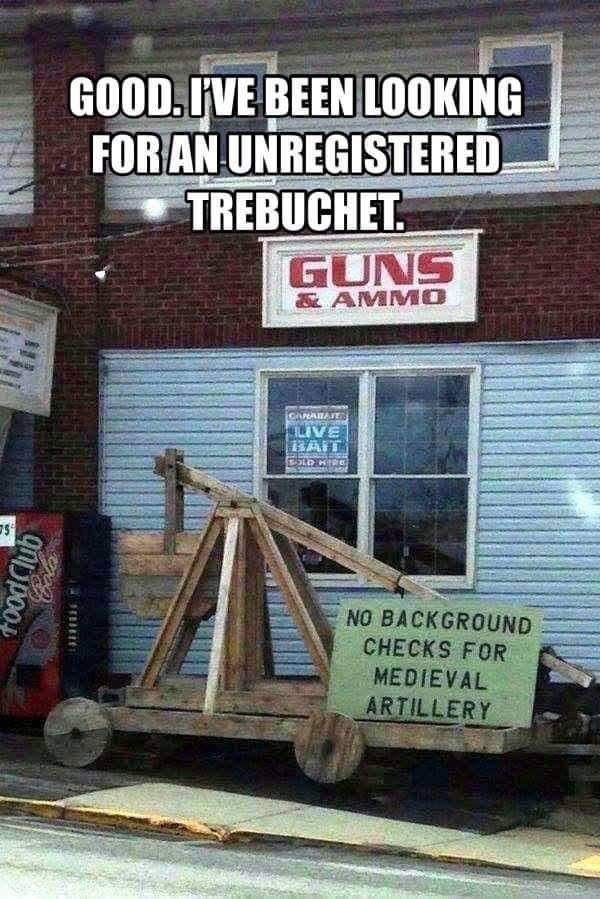 Font - GOOD. IVE BEEN LOOKING FOR AN UNREGISTERED TREBUCHET. GUNS &AMMO GARATAIE BAIT NO BACKGROUND CHECKS FOR MEDIEVAL ARTILLERY anippoot