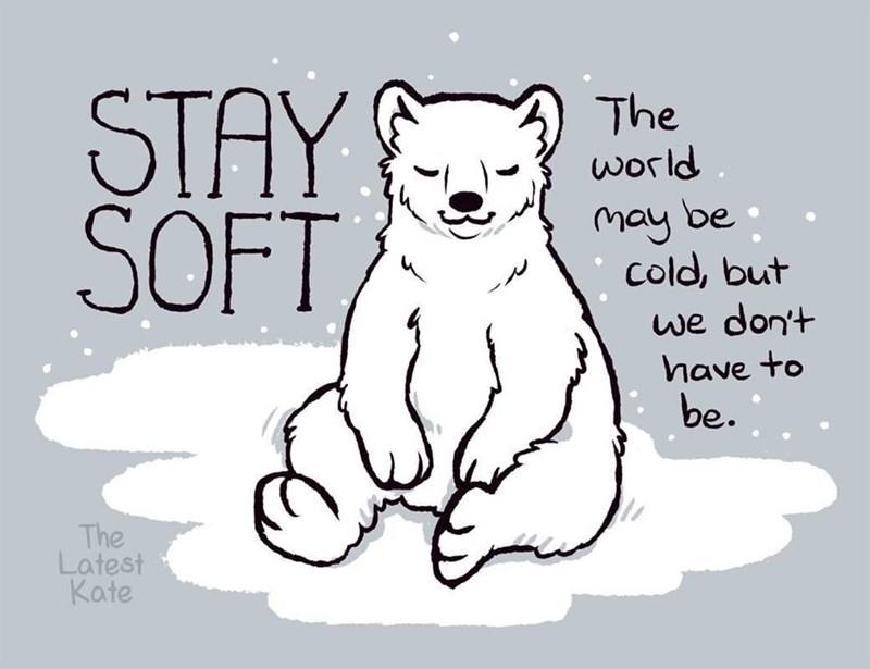 Mammal - STAY SOFT, The world. may be cold, but we don't have to be. The Latest Kate