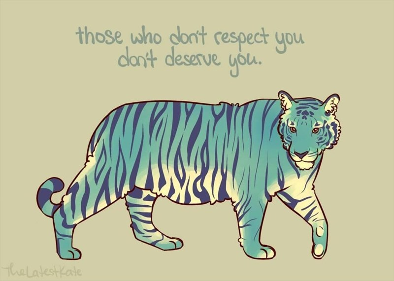 Mammal - those who dlont respect you dlon't deserve you. thelatestkate