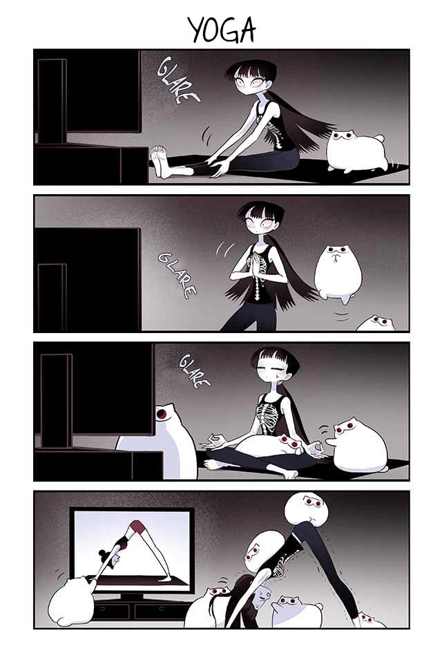 Cartoon - YOGA GLARE GLARE GLARE