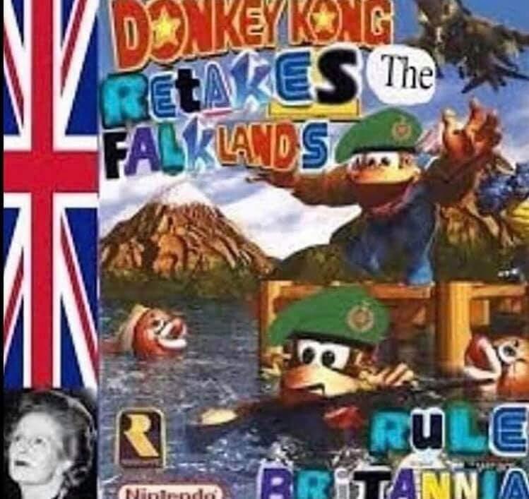 Action-adventure game - DNKEYKNG RETAKES The FALKIANDS RULE BRITANNA Nintendo