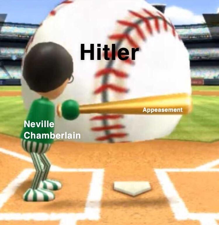 Baseball - Hitler Appeasement Neville Chamberlain