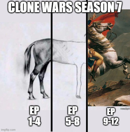 Comics - CLONE WARS SEASON7 EP 14 EP 5-8 EP 9-12 imgflip.com
