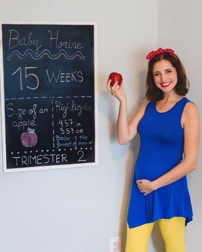 Blackboard - Baby Honine 15 WEEKS ige of an itig ligis apple 1457 in 353 oz |Baby is the I Sairest d them ll TRIMESTER 2