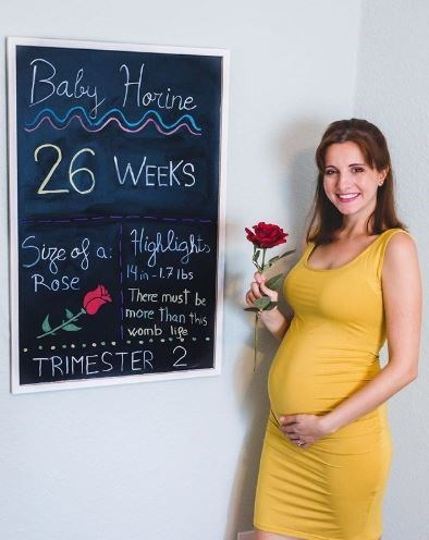 Blackboard - Baby Horine 26 WEEKS Sige of a. Highligh 14in -1.7 Ibs There must be more Than this womb life Rose TRIMESTER 2