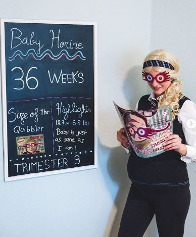 Blackboard - Baby Hoine 36 WEEKS Sige of to Highligt. the 18.7in-5.8 Ibs Baby is just as sane as Quibbler -duBLER THESPECS I am ! TRIMESTER 3