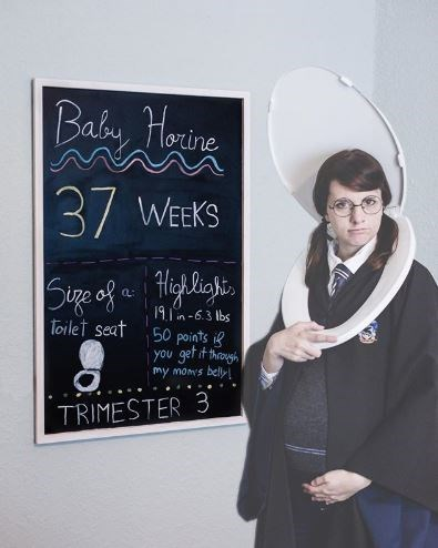 Blackboard - Baby Horine 37 WEEKS Sige of a Highligi, 191n-6.3 lbs 50 points if you get it through my moms bely toilet seat TRIMESTER 3
