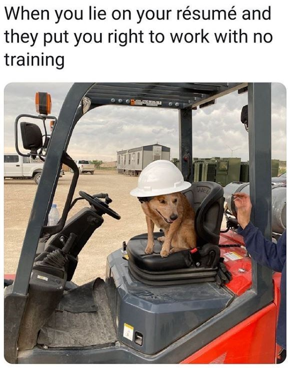 Transport - When you lie on your résumé and they put you right to work with no training