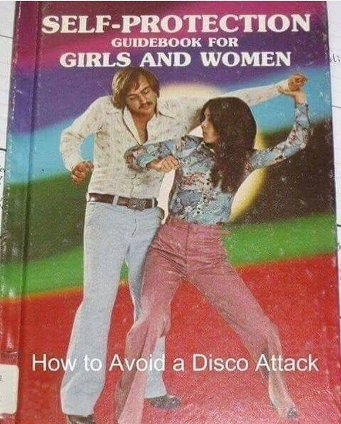 Poster - SELF-PROTECTION GUIDEBOOK FOR GIRLS AND WOMEN How to Avoid a Disco Attack